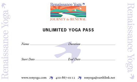 Renaissance Yoga - Maryland - Unlimited Yoga Passes